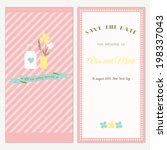 two sides of the wedding... | Shutterstock .eps vector #198337043