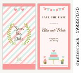 two sides of the wedding... | Shutterstock .eps vector #198337070