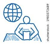 worldwide news sketch icon...   Shutterstock .eps vector #1983372689