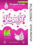fruits and berries yogurt label ... | Shutterstock .eps vector #1983378716