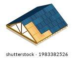 framed roof as house top... | Shutterstock .eps vector #1983382526