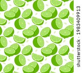 lemon fruits seamless pattern....   Shutterstock .eps vector #1983409913