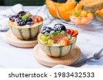 Fruit Salad With Yogurt In...