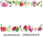 Watercolor Colorful Wreath With ...
