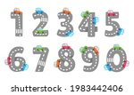 cartoon numbers from 1 to 9 on...   Shutterstock .eps vector #1983442406