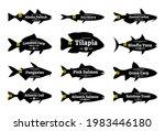 set of vector fish label...   Shutterstock .eps vector #1983446180
