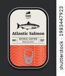 canned atlantic salmon label...   Shutterstock .eps vector #1983447923