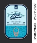 canned pink salmon label...   Shutterstock .eps vector #1983447929
