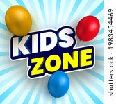 kids zone banner with colorful... | Shutterstock .eps vector #1983454469
