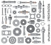 car engine  machine spare parts ... | Shutterstock .eps vector #1983456506