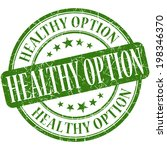 healthy option green round... | Shutterstock . vector #198346370