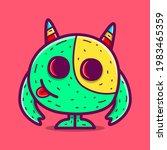 cute monster cartoon doodle... | Shutterstock .eps vector #1983465359