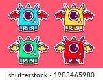 cute monster cartoon doodle... | Shutterstock .eps vector #1983465980