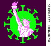 statue of liberty in a medical...   Shutterstock .eps vector #1983468680