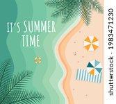 tropical beach poster. it's...   Shutterstock .eps vector #1983471230