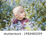 a nine month old boy in a... | Shutterstock . vector #1983483359