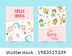Set Of Spring Banners. Hello...
