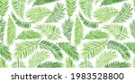 palm leaf seamless pattern ... | Shutterstock .eps vector #1983528800