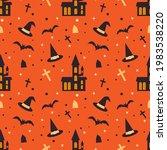halloween seamless pattern with ...   Shutterstock .eps vector #1983538220
