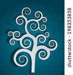 decorative tree concept in... | Shutterstock .eps vector #198353858