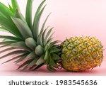 A Pineapple On Light Pink...
