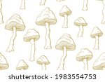 Inedible Mushrooms Vector...