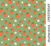 strawberry seamless pattern....   Shutterstock . vector #1983558569