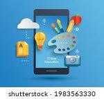 online education learning on... | Shutterstock .eps vector #1983563330