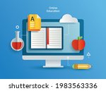 online education learning on... | Shutterstock .eps vector #1983563336