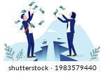 gender pay gap   man and woman...   Shutterstock .eps vector #1983579440