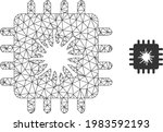 mesh vector infected chip image ...   Shutterstock .eps vector #1983592193