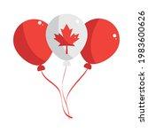 canada balloon leaf maple... | Shutterstock .eps vector #1983600626