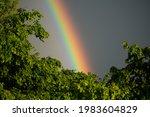 Rainbow Sky After The Rain Real ...