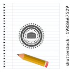 cheeseburger icon draw  pencil... | Shutterstock .eps vector #1983667529