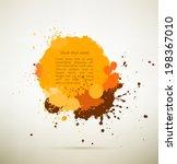 orange brown and yellow ink... | Shutterstock .eps vector #198367010