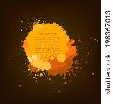 yellow and orange ink splats... | Shutterstock .eps vector #198367013