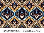 ikat geometric folklore... | Shutterstock .eps vector #1983696719
