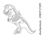 dinosaur skeleton in cartoon...   Shutterstock .eps vector #1983717359