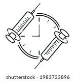 vaccination schedule...   Shutterstock .eps vector #1983723896