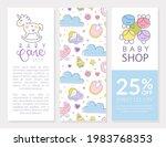 cute baby care brochure...   Shutterstock .eps vector #1983768353