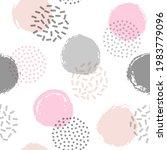 memphis circles seamless...   Shutterstock .eps vector #1983779096