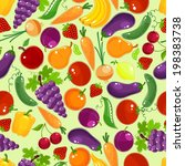 colorful fruit and vegetables... | Shutterstock .eps vector #198383738