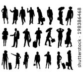 vector silhouettes of business... | Shutterstock .eps vector #198386468