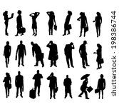 vector silhouettes of business... | Shutterstock .eps vector #198386744