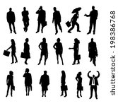 vector silhouettes of business... | Shutterstock .eps vector #198386768