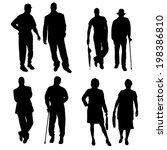 vector silhouette of a people... | Shutterstock .eps vector #198386810
