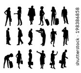 vector silhouettes of business... | Shutterstock .eps vector #198386858