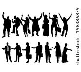vector silhouettes of business... | Shutterstock .eps vector #198386879