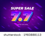 7.7 shopping day sale poster or ... | Shutterstock .eps vector #1983888113