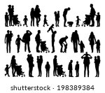 big set of black silhouettes of ... | Shutterstock . vector #198389384
